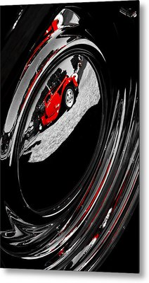 Hot Rod Hubcap Metal Print by motography aka Phil Clark