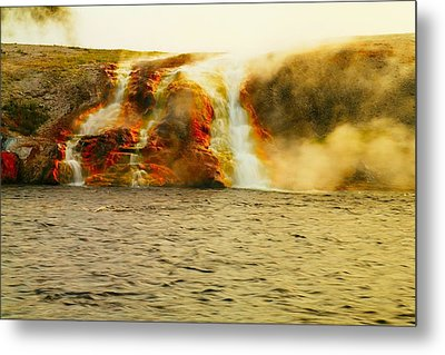 Hot Water Pouring Metal Print by Jeff Swan