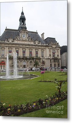 Hotel De Ville - Tours Metal Print by Christiane Schulze Art And Photography
