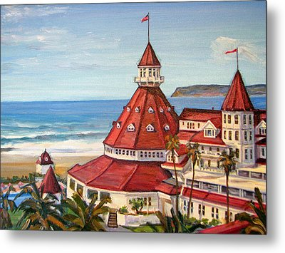 Hotel Del Coronado From Above Metal Print by Robert Gerdes