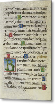 Hours Of The Virgin Metal Print by British Library