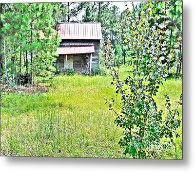 House In The Thicket Metal Print by Eloise Schneider