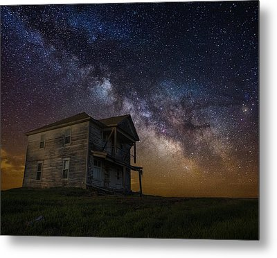 House On The Hill   Remastered Metal Print by Aaron J Groen