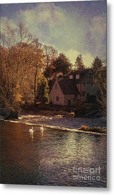 House On The River Metal Print by Amanda Elwell