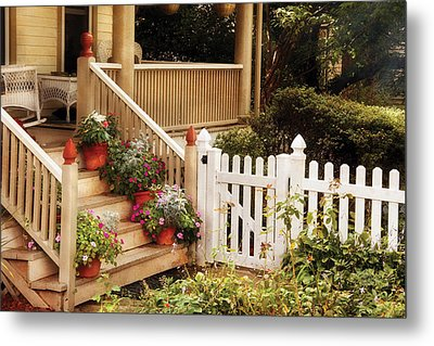 House - Rutherford Nj - My Grandmother's Garden  Metal Print by Mike Savad