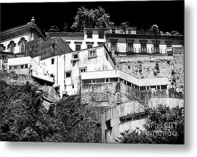 Houses On The Hill Metal Print by John Rizzuto