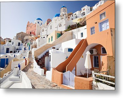 Housing Of Santorini Metal Print by Aiolos Greek Collections