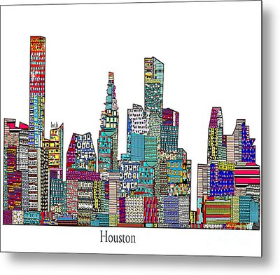 Houston Metal Print by Bri B