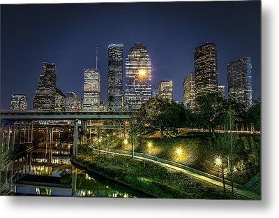 Houston On The Bayou Metal Print by David Morefield