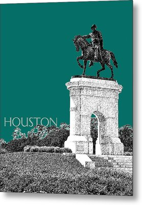 Houston Sam Houston Monument - Sea Green Metal Print by DB Artist