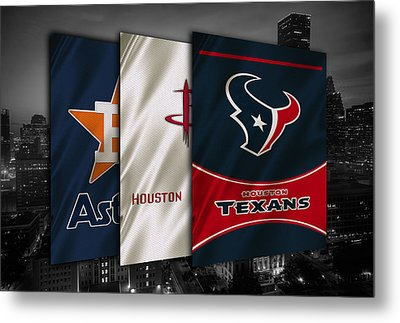 Houston Sports Teams Metal Print by Joe Hamilton