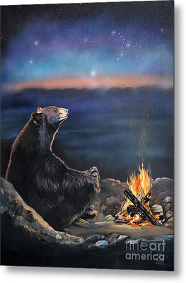 How Grandfather Bear Created The Stars Metal Print by J W Baker
