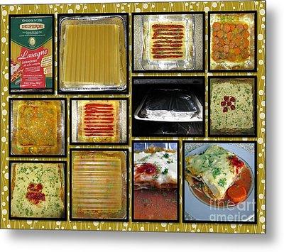 How To Make Your Own Vegan Lasagne Metal Print by Ausra Huntington nee Paulauskaite