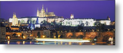 Hradcany Castle And Charles Bridge Metal Print by Panoramic Images
