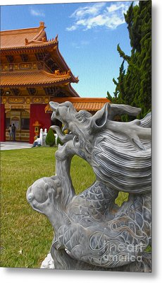 Hsi Lai Temple - 03 Metal Print by Gregory Dyer