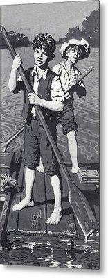 Huckleberry Finn And Tom Sawyer  Metal Print by English School