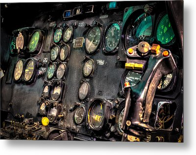 Huey Instrument Panel Metal Print by David Morefield