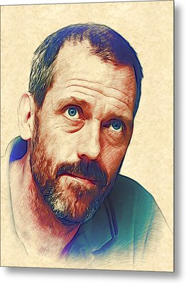 Hugh Laurie Metal Print by Marina Likholat