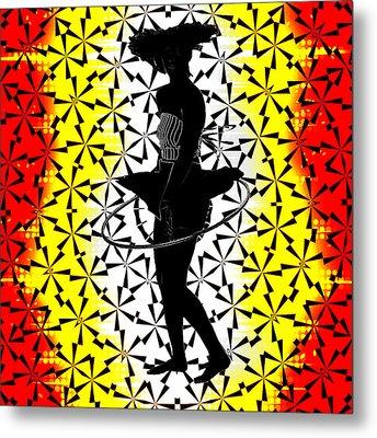 Hula Hoop Kaleidoscope Metal Print by Amber Summerow
