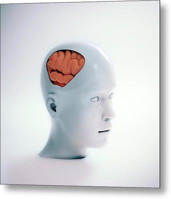 Human Psychology Metal Print by Andrzej Wojcicki