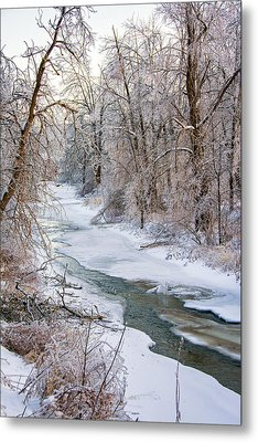 Humber River Winter Metal Print by Steve Harrington