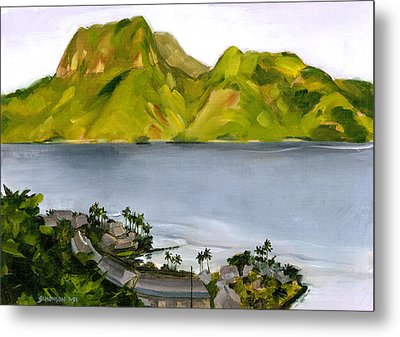 Humid Day In Pago Pago Metal Print by Douglas Simonson