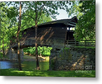 Humpback Covered Bridge 2 Metal Print by Mel Steinhauer