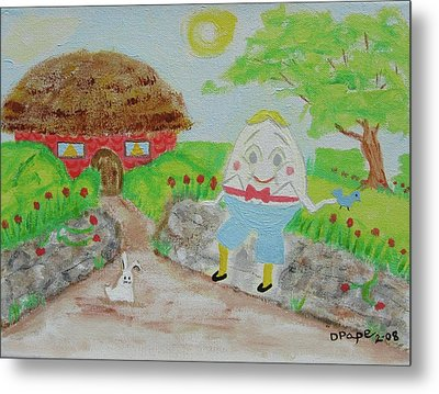 Humpty's House Metal Print by Diane Pape
