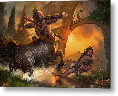 Hunt The Hunter Metal Print by Ryan Barger