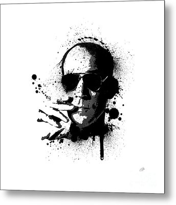 Hunter S. Thompson Metal Print by Laurence Adamson