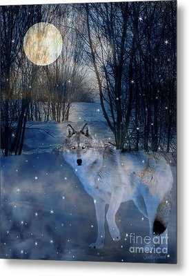 Hunter's Moon Metal Print by Judy Wood