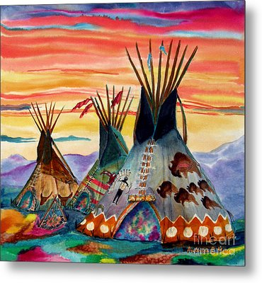 Hunting Lodges  Northern Plains Metal Print by Anderson R Moore