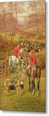 Hunting Scene, 1906 Metal Print by Edward Algernon Stuart Douglas