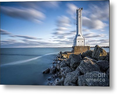 Huron Harbor Lighthouse Metal Print by James Dean