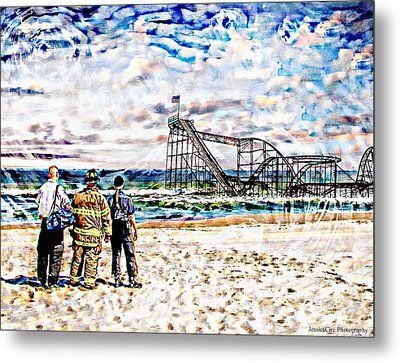Hurricane Sandy First Responders Metal Print by Jessica Cirz