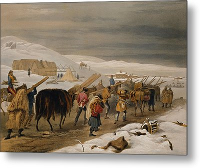 Huts And Warm Clothing For The Army Metal Print by William 'Crimea' Simpson