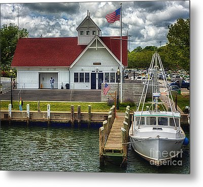 Hyannis Coastguard Hdr01 Metal Print by Jack Torcello