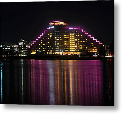 Hyatt Reflection Charles River Metal Print by Toby McGuire
