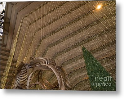 Hyatt Regency Hotel Embarcadero San Francisco California Dsc1974 Metal Print by Wingsdomain Art and Photography