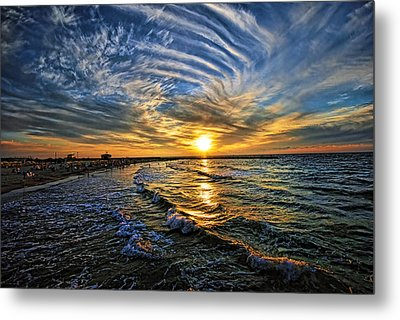 Hypnotic Sunset At Israel Metal Print by Ron Shoshani