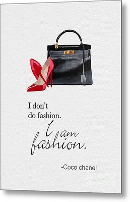I Am Fashion Metal Print by Rebecca Jenkins