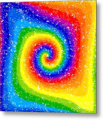 I Can See A Rainbow Metal Print by Chris Butler