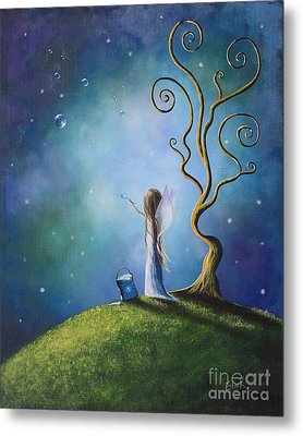 Original Fairy Art Print By Shawna Erback Metal Print by Shawna Erback