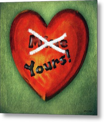 I Gave You My Heart Metal Print by Jeff Kolker