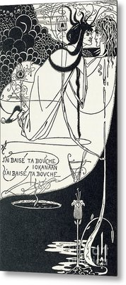 I Kissed Your Mouth Metal Print by Aubrey Beardsley