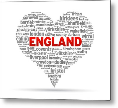 I Love England Metal Print by Aged Pixel