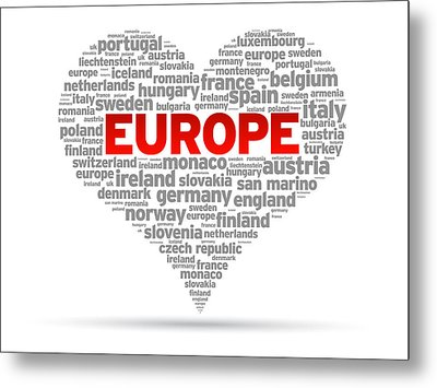 I Love Europe Metal Print by Aged Pixel