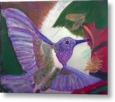 I Love Hummingbirds  Metal Print by Anne-Elizabeth Whiteway