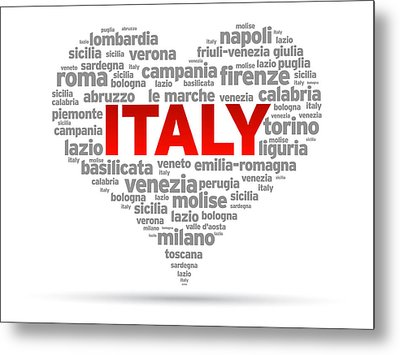 I Love Italy Metal Print by Aged Pixel