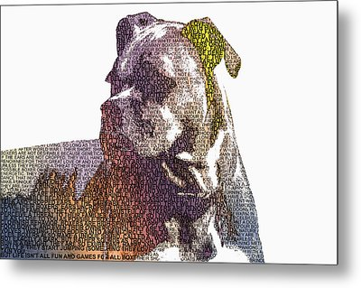 Dog - Boxer - Pet - I Love My Boxer Metal Print by Barry Jones